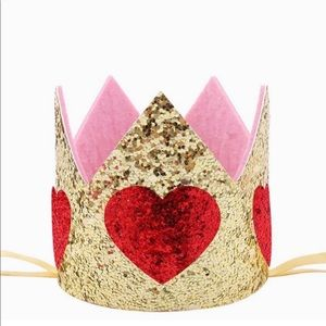 Other - Heart crown,kids crown,gold crown,glitter crown,